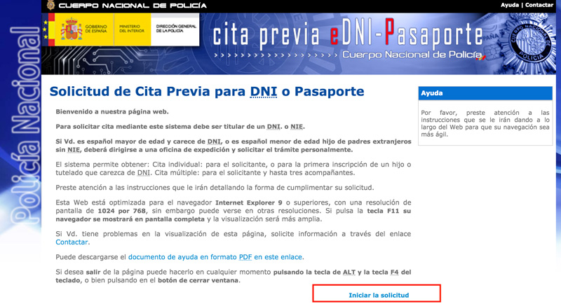 cita previa pasaporte
