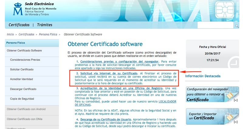 certificado digital solicitud
