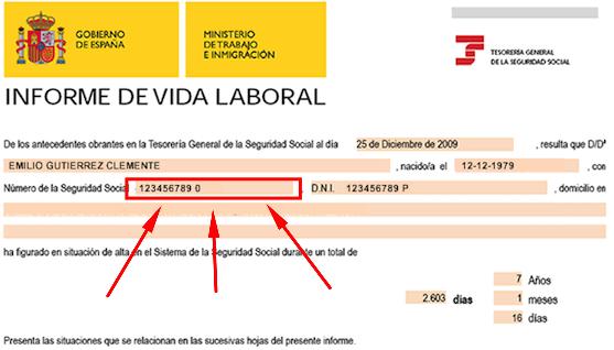 Solicitar informe de vida laboral para saber el número de afiliación a la Seguridad Social