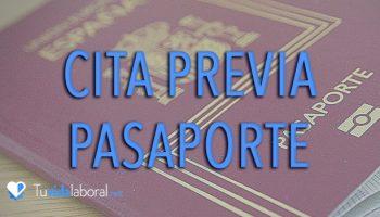 cita previa pasaporte espana